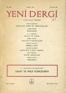 Yeni Dergi 12 Eylül 1965