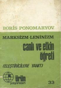 Marksizm Leninizm Canlı ve Etkin Öğreti