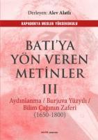 Batıya Yön Veren Metinler III