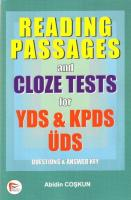 Reading Passages and Cloze Tests for YDS   KPDS, ÜDS (Questions   Answer Key)