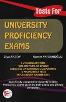 Tests for University Proficiency Exams