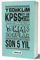 Yediiklim KPSS Genel Yetenek Genel Kültür Tamamı Çözümlü Son 5 Yıl Çıkmış Sorular-YENİ