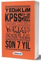 Yediiklim KPSS Genel Yetenek Genel Kültür Tamamı Çözümlü Son 7 Yıl Çıkmış Sorular-YENİ