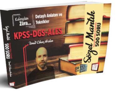 657 KPSS DGS ALES Kolaydan Zora Sözel Mantık Tamamı Video Çözümlü 500 Soru-YENİ