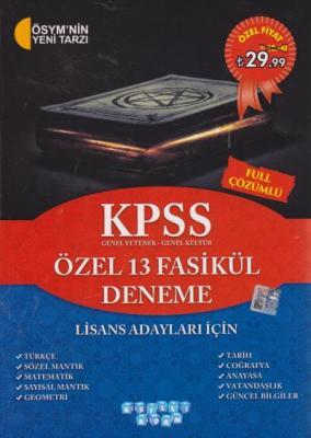 Akıllı Adam KPSS Lisans Özel 13 Fasikül Deneme Akıllı Adam Yayınları K