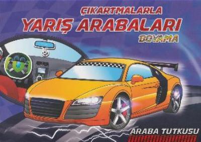 çıkartmalarla Yarış Arabaları Boyama Revzen Kitap Komisyon Grubu