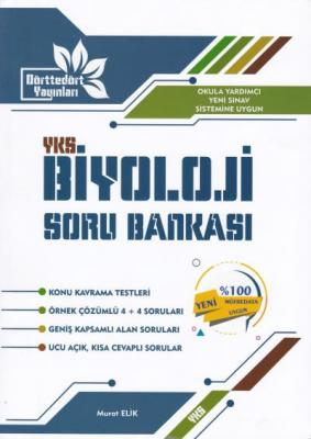 Dörttedört YKS Biyoloji Soru Bankası Murat Elik