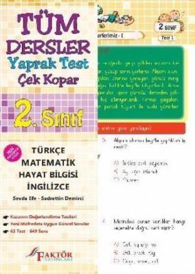 Faktör 2. Sınıf Tüm Dersler Yaprak Test-Çek Kopar YENİ