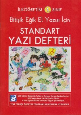 İlköğretim 1. Sınıf Bitişik Eğik El Yazısı İçin Standart Yazı Defteri
