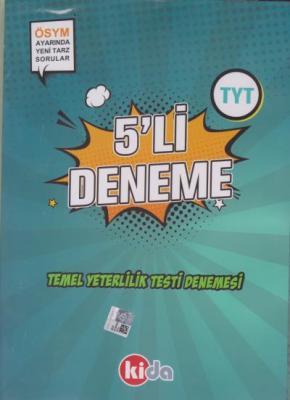 Kida TYT 5 li Deneme-YENİ Kida Yayınları Komisyon