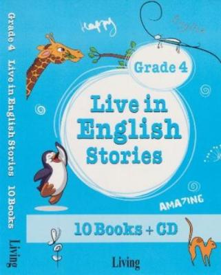 Live in English Stories Grade 4 - 10 Books-CD