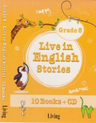 Live in English Stories Grade 8 - 10 Books-CD