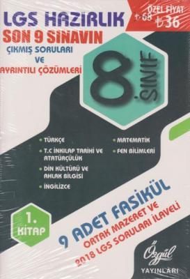 Özgül 8. Sınıf LGS Son 9 Sınavın Çıkmış Soruları ve Ayrıntılı Çözümleri 1. Kitap-YENİ