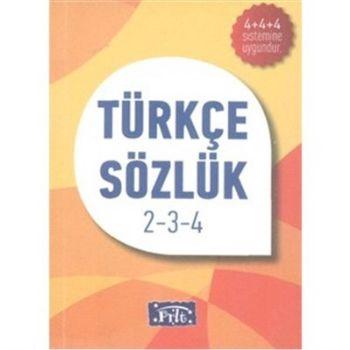 Parıltı İlköğretim Türkçe Sözlük-Karton Kapak 2-3-4