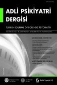Adli Psikiyatri Dergisi – Cilt:3 Sayı:1 Ocak 2006