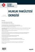 İstanbul Kültür Üniversitesi Hukuk Fakültesi Dergisi Cilt:17 – Sayı:2 Temmuz 2018