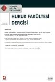 İstanbul Kültür Üniversitesi Hukuk Fakültesi Dergisi Cilt:8 – Sayı:2 Temmuz 2009