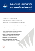 Bahçeşehir Üniversitesi Hukuk Fakültesi Dergisi Cilt:8 – Sayı:109–110 Eylül – Ekim 2013