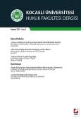 Kocaeli Üniversitesi Hukuk Fakültesi Dergisi Sayı:8 Temmuz 2013