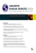 Sakarya Üniversitesi Hukuk Fakültesi Dergisi Cilt:1 – Sayı:1 Temmuz 2013