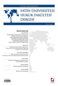 Fatih Üniversitesi Hukuk Fakültesi Dergisi Cilt:2 – Sayı:2 Haziran 2014