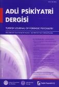 Adli Psikiyatri Dergisi – Cilt:1 Sayı:2 Nisan 2004