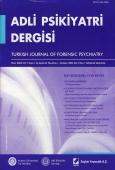 Adli Psikiyatri Dergisi – Cilt:1 Sayı:4 Ekim 2004