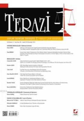 Terazi Aylık Hukuk Dergisi Sayı:88 Aralık 2013
