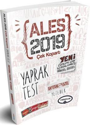 Yediiklim ALES Sayısal Yetenek Sözel Yetenek Çek Kopart Yaprak Test-YENİ