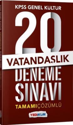 Yediiklim KPSS Genel Kültür Vatandaşlık Tamamı Çözümlü 20 Deneme Sınavı-YENİ