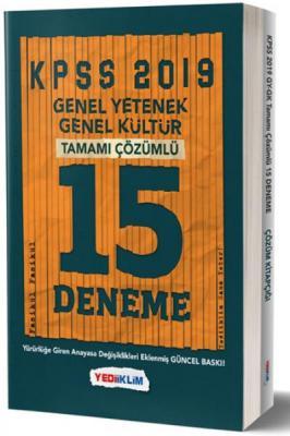 Yediiklim KPSS Genel Yetenek Genel Kültür Tamamı Çözümlü 15 Fasikül Deneme-YENİ