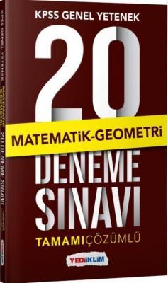 Yediiklim KPSS Genel Yetenek Matematik Geometri Tamamı Çözümlü 20 Deneme Sınavı-YENİ