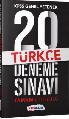 Yediiklim KPSS Genel Yetenek Türkçe Tamamı Çözümlü 20 Deneme Sınavı-YENİ