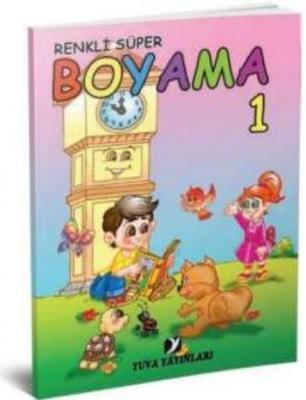 Yuva Renkli Süper Boyama Kitabı-10 Kitap Takım