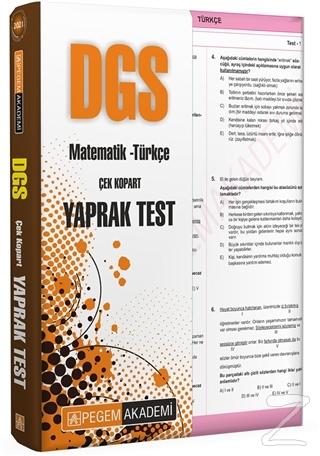 2021 DGS Matematik - Türkçe Çek Kopart Yaprak Test