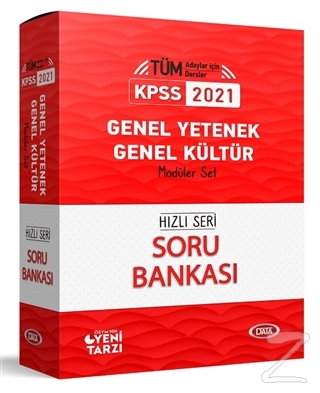 2021 KPSS Genel Yetenek-Genel Kültür Hızlı Seri Soru Bankası Modüler Set