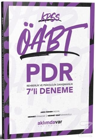 2021 KPSS ÖABT PDR Rehberlik ve Psikolojik Danışmanlık 7'li Deneme