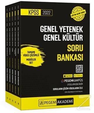 2022 KPSS Genel Yetenek Genel Kültür Tamamı Video Çözümlü Soru Bankası Modüler Set (5 Kitap Takım)