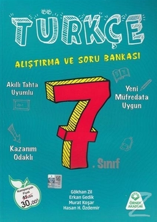 7. Sınıf Türkçe Alıştıma ve Soru Bankası