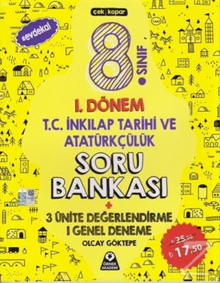 8. Sınıf 1. Dönem T.C. İnkılap Tarihi ve Atatürkçülük Soru Bankası 3 Ünite Değerlendirme 1 Genel Deneme