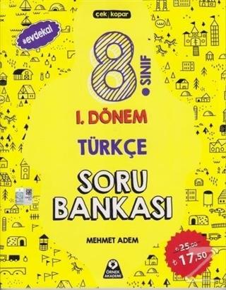 8. Sınıf 1. Dönem Türkçe Soru Bankası