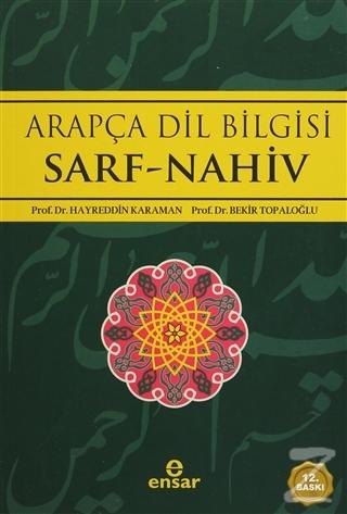 Arapça Dilbilgisi Sarf -Nahiv