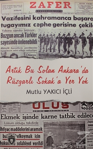 Artık Bu Solan Ankara'da Rüzgarlı Sokak'a Yer Yok