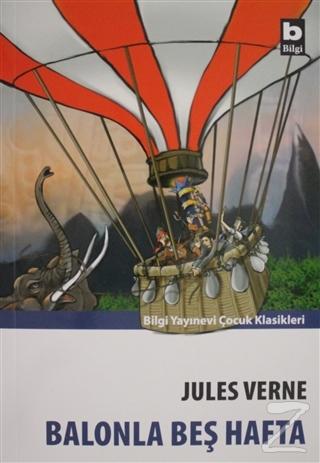 Balonla Beş Hafta-Bilgi Y. %20 indirimli Jules Verne