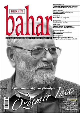 Berfin Bahar Aylık Kültür Sanat ve Edebiyat Dergisi Sayı: 259 Eylül 20
