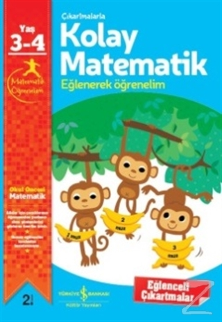 Çıkartmalarla Kolay Matematik 3-4 Yaş