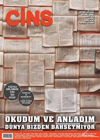 Cins Aylık Kültür Dergisi Sayı: 72 Eylül 2021