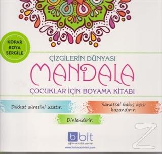 Çizgilerin Dünyası - Mandala Çocuklar İçin Boyama Kitabı