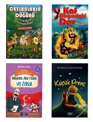 Çocuklar İçin Hikaye Seti (4 Kitap Takım) Mustafa Akgün