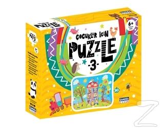 Çocuklar İçin Puzzle 3 (Kutulu)